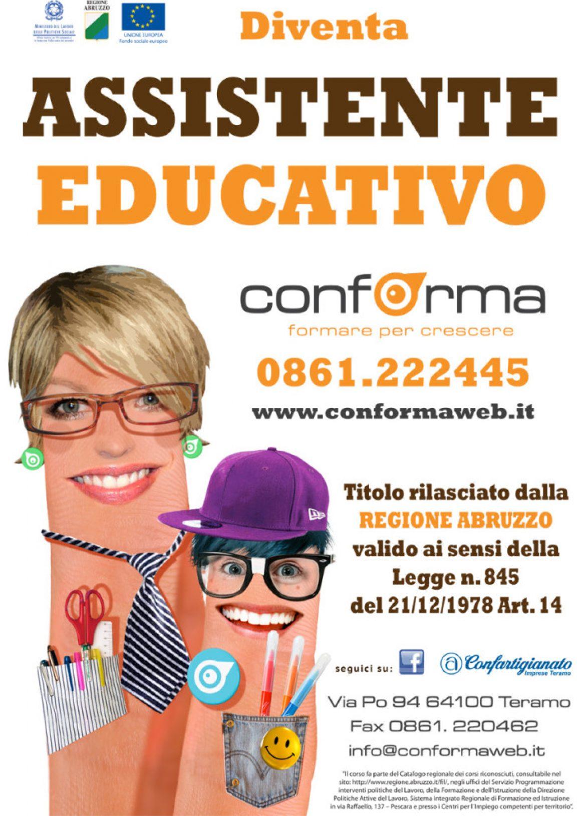 """Corso di formazione professionale per """"ASSISTENTE EDUCATIVO"""""""