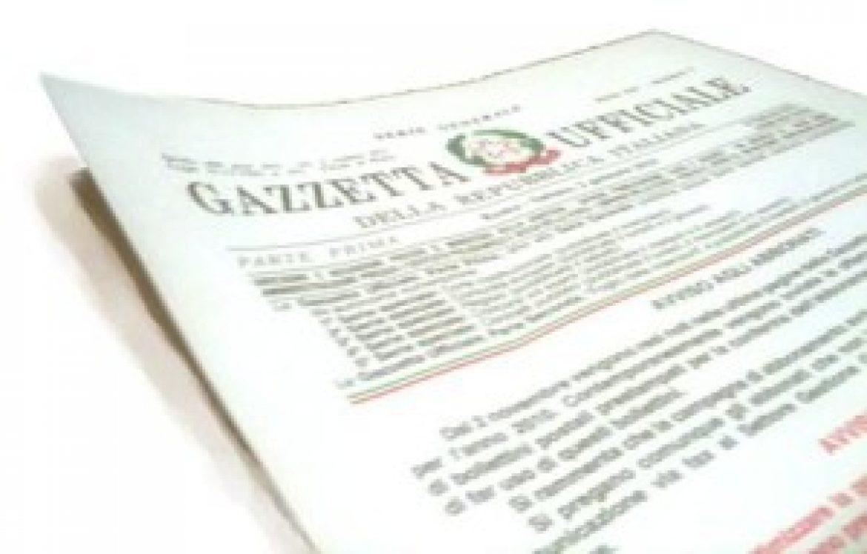 PUBBLICATO IN GAZZETTA UFFICIALE IL DECRETO APPARECCHIATURE